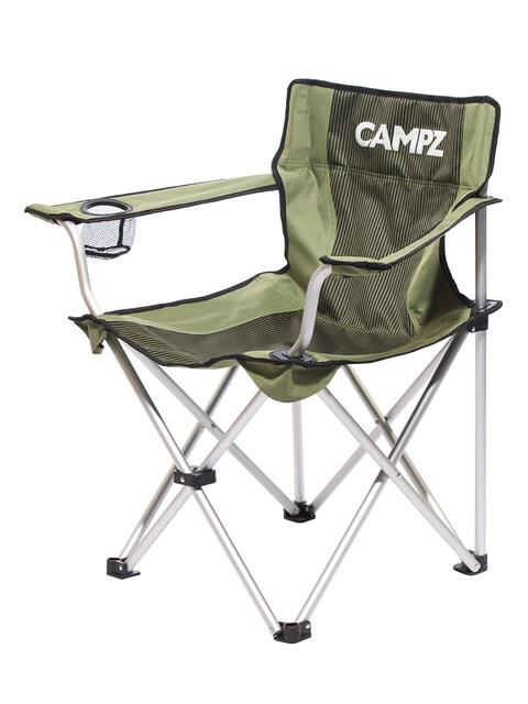 CAMPZ aluminium vouwstoel zwart/olijf